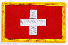 PATCH ECUSSON BRODE DRAPEAU SUISSE INSIGNE THERMOCOLLANT NEUF FLAG PATCHE