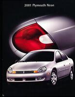 2001 Plymouth Neon 24-page Large Original Sales Brochure Catalog