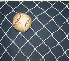 "Baseball Softball Barrier Backstop Netting 9' X 9' White 1 3/4"" #42 Heavy Duty"