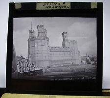 c1900s CARNARVON CSTLE Wales - Glass Lantern Photo Slide
