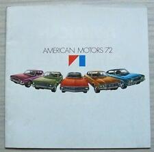AMERICAN MOTORS AMC USA Sales Brochure 1972 #1232183502 Gremlin HORNET Matador