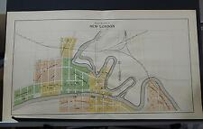 Wisconsin Waupaca County Map City of New London Two Double Pages 1912 Q2#48