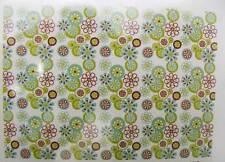 1 Tissu coupon Petite Fleur Artemio 45x55 cm fond bleu-vert DIY loisirs créatifs