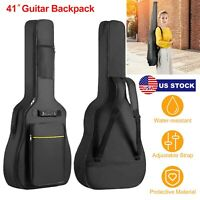 41'' Padded Protective Acoustic Guitar Bag Soft Gig Case Backpack Carrying Bags