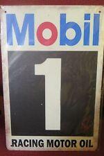 mobil 1 racing motor  oil   tin metal sign MAN CAVE brand new