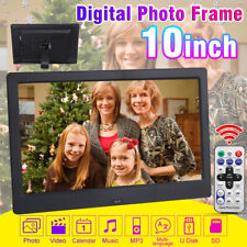 10'' 1080P HD LCD Digital Photo Frame Picture MP4 Movie Player Remote  !