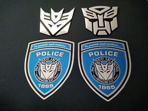 Transformers Autobot&Decepticon Embleme aus Alu+ 2x To punish&enslave Aufkleber