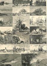 Paris Peinture salon des Beaux-Arts choix de paysages mer campagne GRAVURE 1873