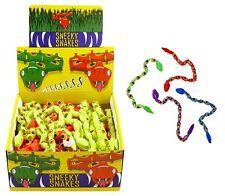 6x plástico Sneaky Snakes Pinata juguete Botín Para Niños Bolsa Fiesta Relleno favor Broma