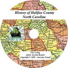 1918 - HALIFAX County North Carolina NC - History Genealogy Families - CD DVD