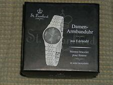 St. Leonhard Damen-Armbanduhr aus Edelstahl, Neu, OVP