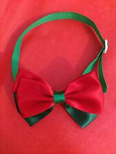 Christmas Dog Cat Bow Tie - Small Dog Breed Satin Adjustable Collar Puppy Kitten