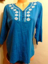 D&CO. SMALL 3/4 SLEEVED  TUNIC TOP