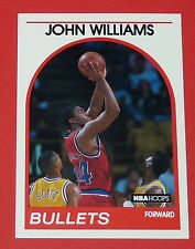 # 254 JOHN WILLIAMS WASHINGTON BULLETS 1989 NBA HOOPS BASKETBALL CARD