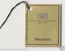 IWC Electronic stimmgabeluhr escudo/remolques - 1970er años-día Label