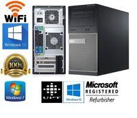 Dell Optiplex 7010/9010 MT Windows 7/10 Intel Core i5 QUAD WiFi HDD/SSD USB 3.0