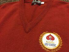 VTG 50's 60's Sahara Golf Classic 100% Cashmere Sweater Rare Casino Las Vegas
