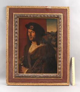 19thC Antique Portrait Oil Painting, 16thC Gregorian Old Master Batolomeo Veneto
