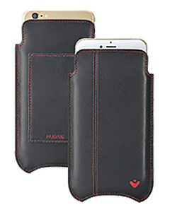 For iPhone 6/6s Case BLACK Leather NueVue Screen Cleaning Sanitizing WALLET