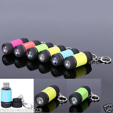 Rechargeable USB Mini LED Torch 0.5w 25 Lumens With Keyring