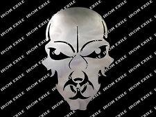 Bio Hazard Metal Skull Plasma Cut Doomsday Zombie Apocalypse Gas Mask Sign Art