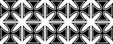 10x Malteserkreuz Maltese Cross 44 Aufkleber