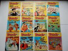 x12 VINTAGE DANDY Comic Library No 64-75 1985-86 British Comics Libraries