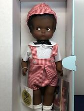 "14� Antique Effanbee Doll Co. ""Patsy� Repro Vinyl Black African American Nrfb"