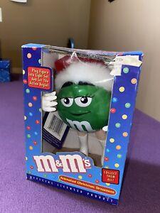 M&M Green Animated Christmas Ornament New! NIB