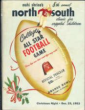 1953 North vs South All Star Football Game Program Miami Florida