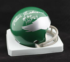 Chuck Bednarik SIGNED Philadelphia Eagles Mini Helmet HOF 67 PSA/DNA AUTOGRAPHED