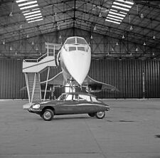 1969 Citroen in hanger with The Concord Air France in hanger 8 x 8 Photograph