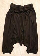 Balmain Black Silk Hareem Pants