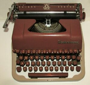 Ca 1954 Underwood Ace 2 Tone Brown Portable Typewriter NO Case Serial # Z2511936