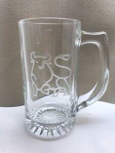 Stock Market Merrill Lynch Beer Stein Mug Etched Bull Taurus FAB!!