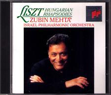 Zubin Mehta: Liszt 6 Hungarian Rhapsody ungherese rhapsodien Sony CD rhaspdies