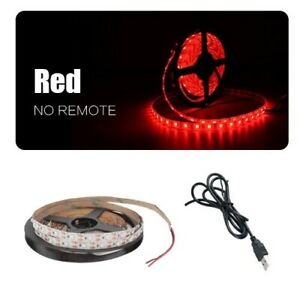 LED Strip  Cable Power Flexible Light Lamp    Desk Decor TV Background Lighting