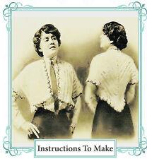 Vintage downton abbey era crochet pattern- make a stylish waistcoat shrug jacket