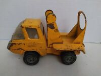 "Vintage Tonka 8"" Pressed Steel Cement Mixer Truck (Orange)."