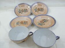 Vintage Hand Painted  Lusterware Child's Toy Dishes Tea Set 1940's
