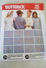 1980S VTG Butterick Crafts Pattern 4695 Designs Embellishing Garments UNCUT