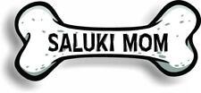 """Dog Mom Saluki Bone Car Magnet Bumper Sticker 3""""x7"""""""