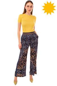 RRP €300 HALE BOB Trousers Size M Mandala Pattern Elasticated Waist Wide Leg