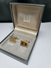 Vintage Dunhill, Two Tone, Cufflinks - With Box