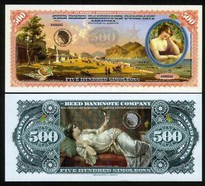 Art Banknote, 500 Simoleons, 2018, Woman with a mirror