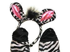 New Seasons Zebra Costume Kit (Child) Halloween, Black and White Zebra Kit