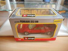 Bburago burago Ferrari 512 BB in Red on 1:24 in Box