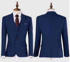 Mens Wedding Dress Slim Suit Commercial Men's Clothing Suits Man Navy Blue