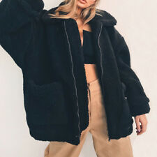 Hot Fashion Lady Fluffy Faux Fur Coat Jacket Winter Warm Outwear Cardigan Tops
