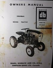 Sears db David Bradley Suburban Riding Garden Tractor Owner & Parts Manual 1959